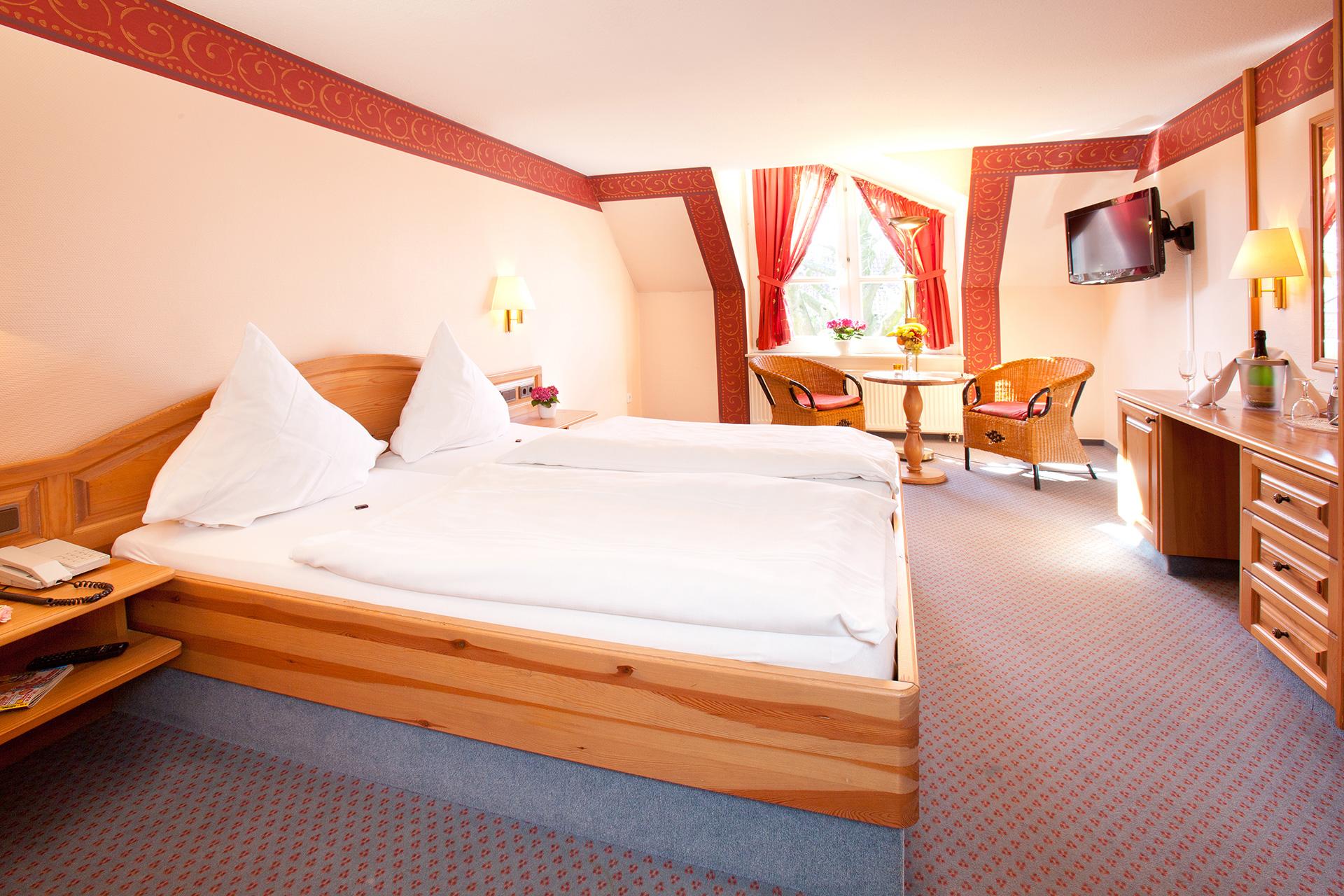 Stadthauszimmer Hotelbett